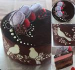 Joconde with Chocolate and Raspberry Entremet