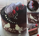 Joconde with Chocolate and Raspberry Entremet by cakecrumbs