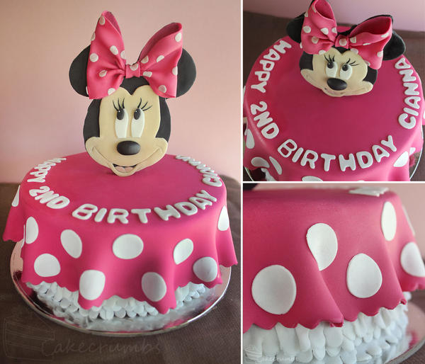 Minnie Mouse Cake by cakecrumbs on DeviantArt