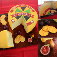 Swiss Wheel of Cheese Cake by cakecrumbs