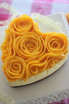 Mango Rose Cheesecake
