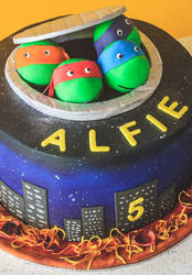 TMNT 5th Birthday Cake