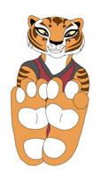 Tigress Feet Showing