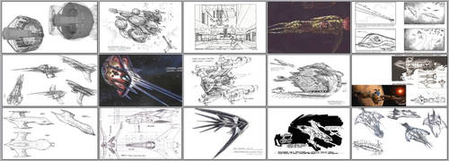 Some production concept art for Babylon 5. by TOMCF