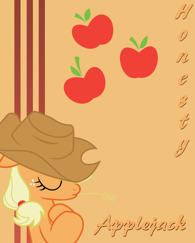 Applejack poster by Fennrick