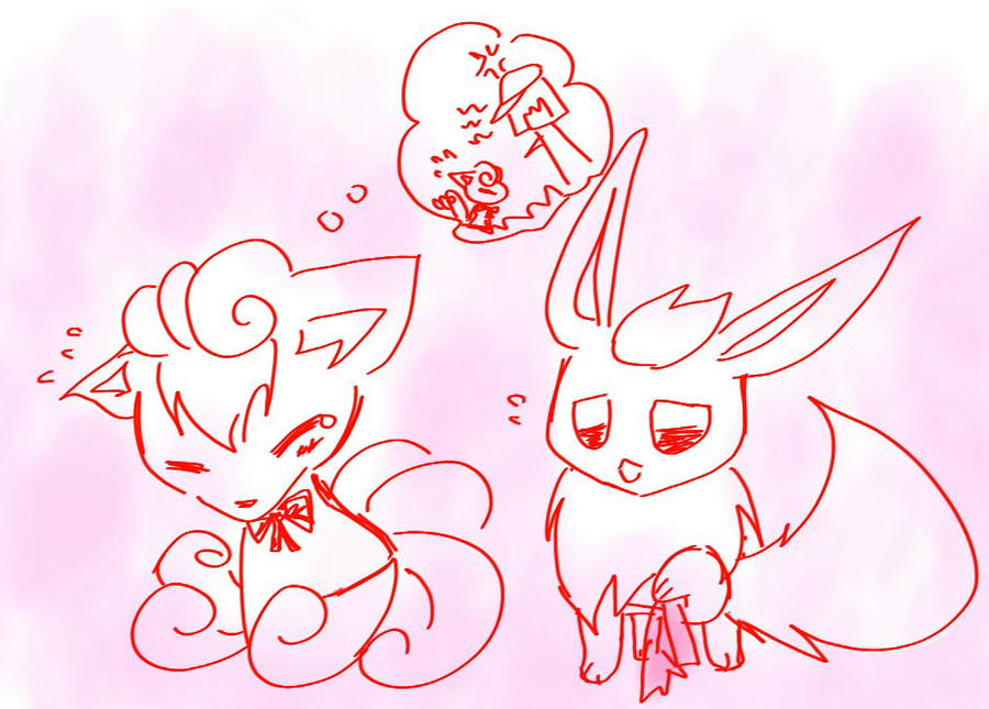 Vulpix and Flareon by ...
