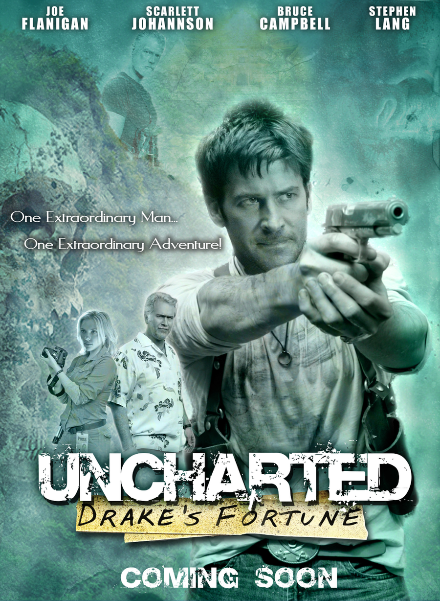 Uncharted Drakes Fortune Movie Poster By DanRDesigner