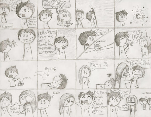 Percy Jackson Comic by Yaki-Okami