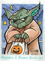 Yoda Sketch Card by MJBivouac