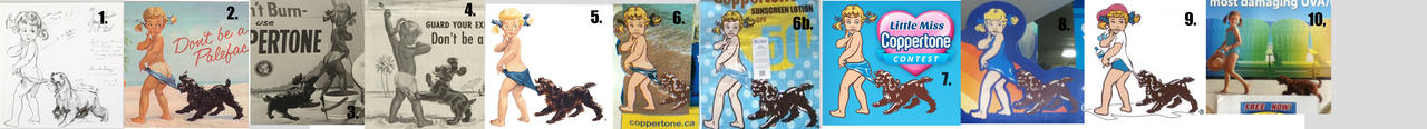 Coppertone Girl through the years
