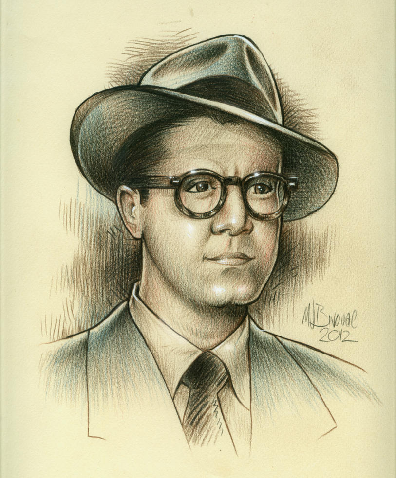George Reeves as Clark Kent by MJBivouac