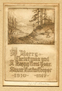 Christmas card 1916, and Interesting DISCOVERY!