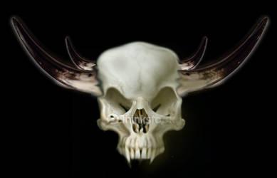 Demon skull photo-manipulation