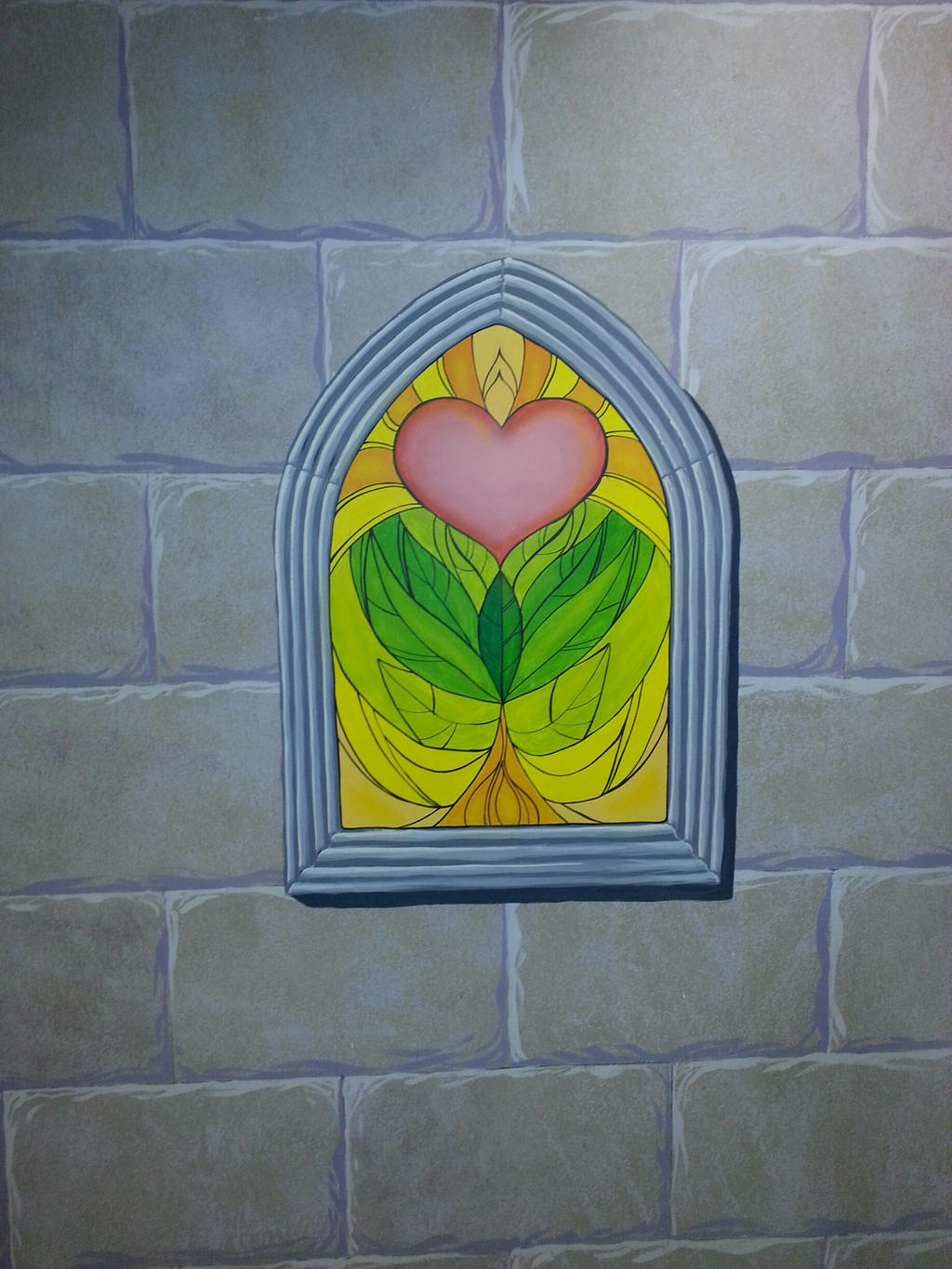 Stained glass window mural work by mjbivouac on deviantart for Mural work using m seal