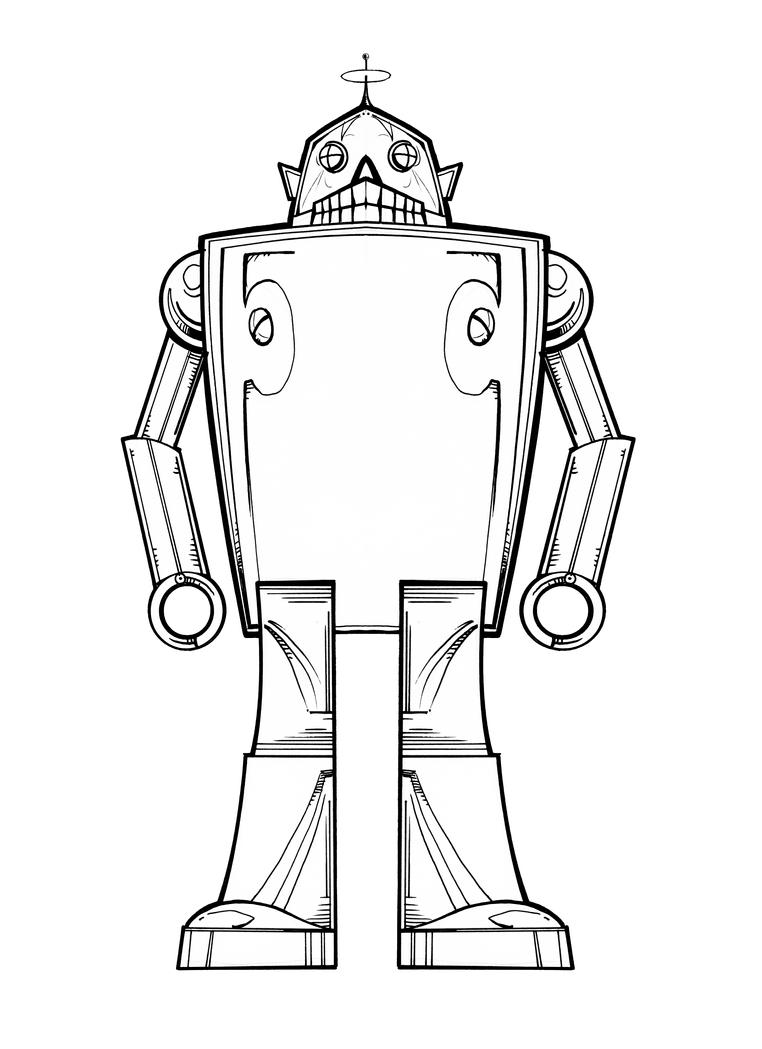 Line Art Robot : So long sucker robot line art by mjbivouac on deviantart
