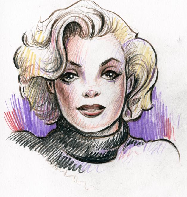 Marilyn sketch by MJBivouac