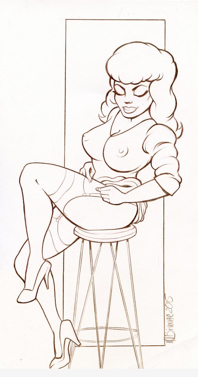 Stool Girl by MJBivouac