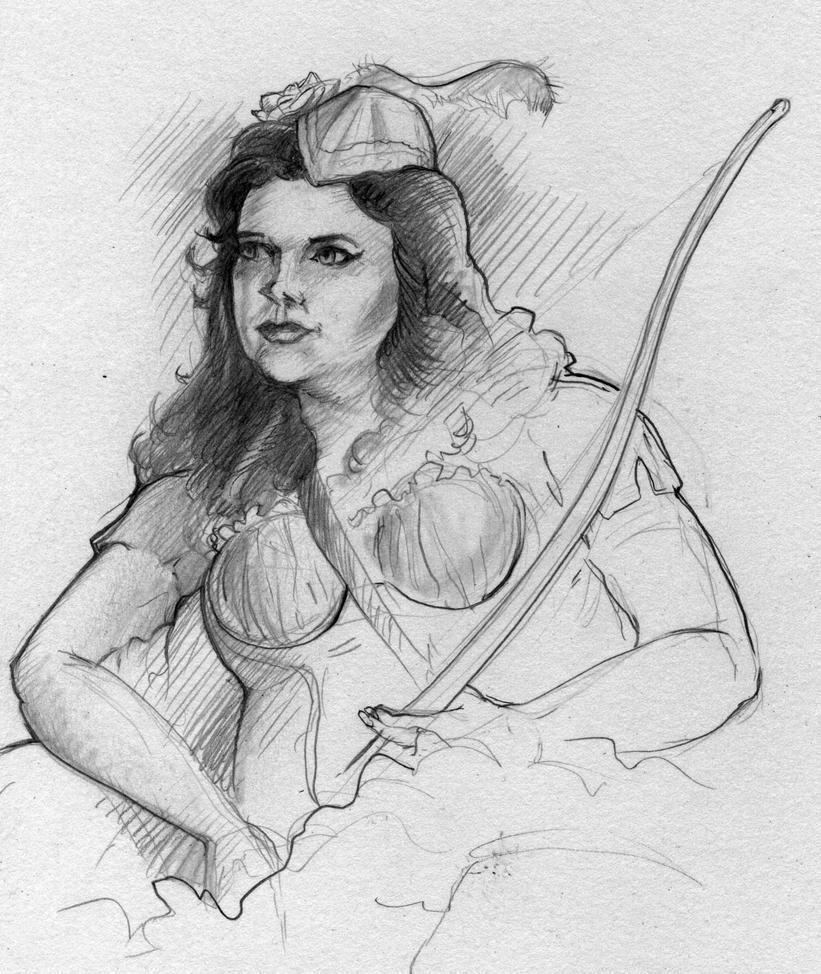 Robin Hood Girl by MJBivouac