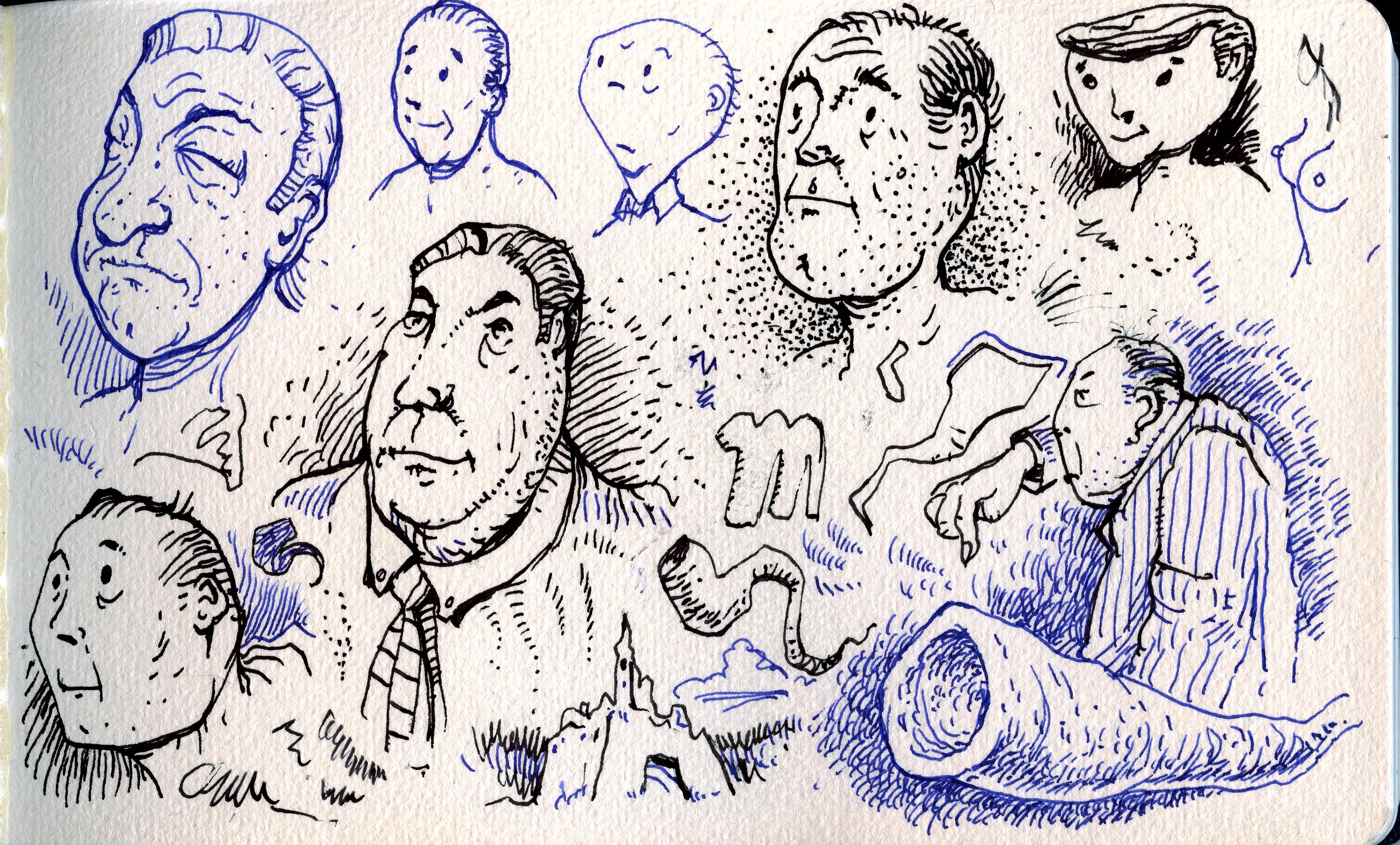 Sketchbook Heads by MJBivouac