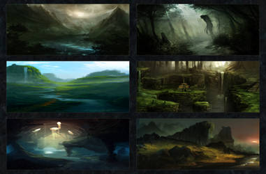 Environment Sketches 1 by CTalmage