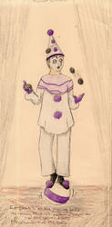 3 Clowns: Pierrot by AutumnOwl
