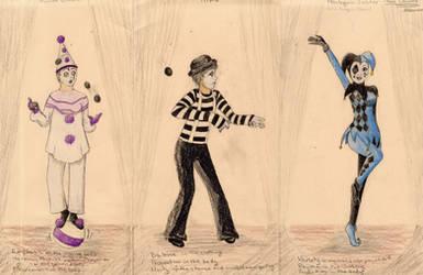 3 Clowns by AutumnOwl