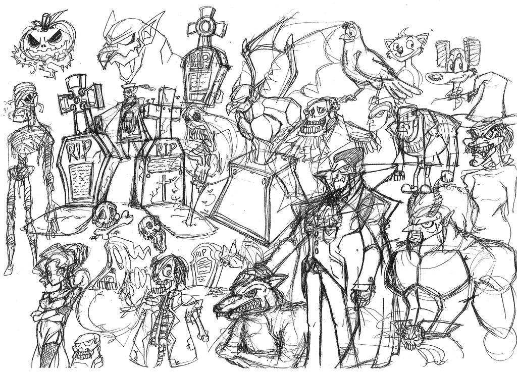 Albino Raven: Dr. Sketchy Drawings