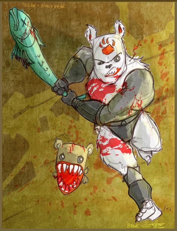 cc fan art 07 bear by jouste on deviantart