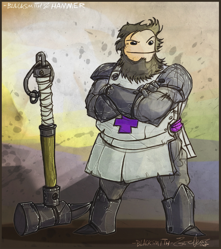 Cc fan art 23 39 blacksmith 39 by jouste on deviantart - Castle crashers anime ...