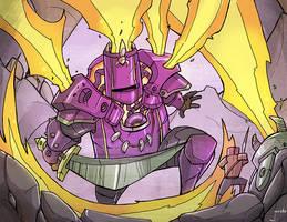 Chibi-Knight: purple knight