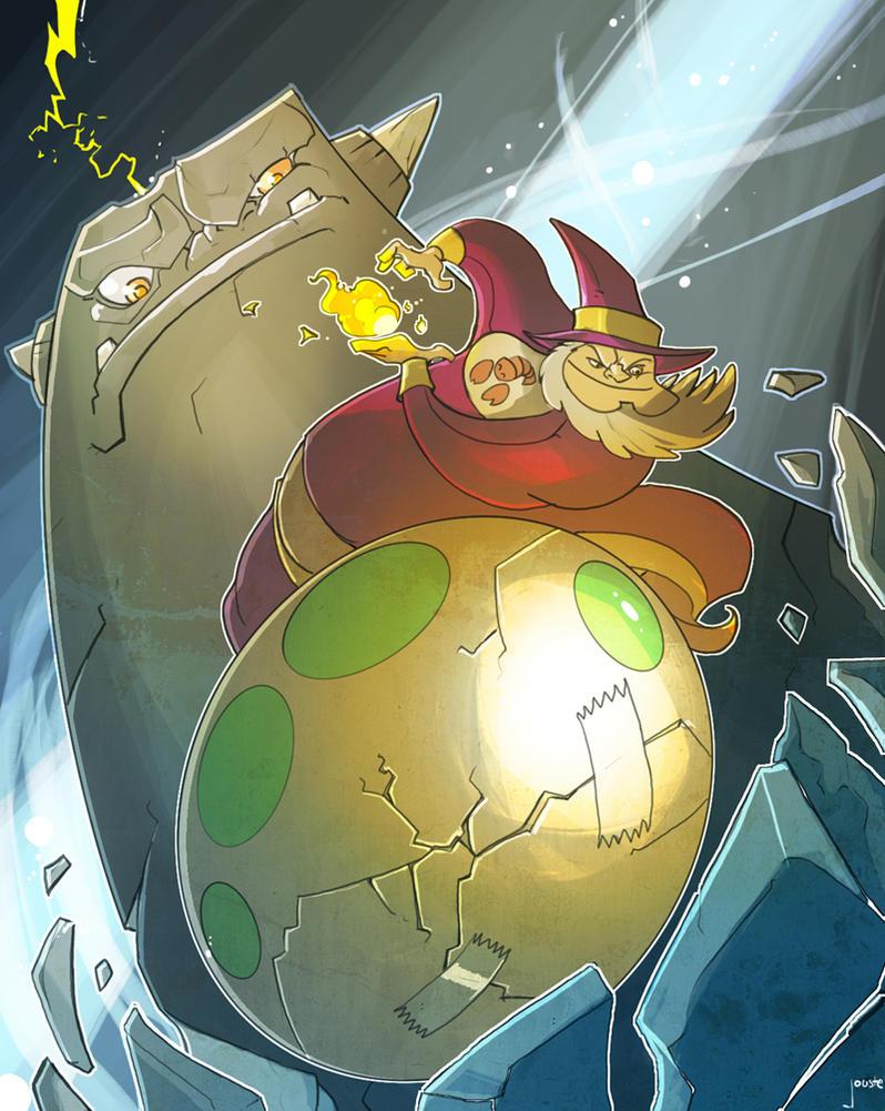 Fat Wizard Fan Art by jouste