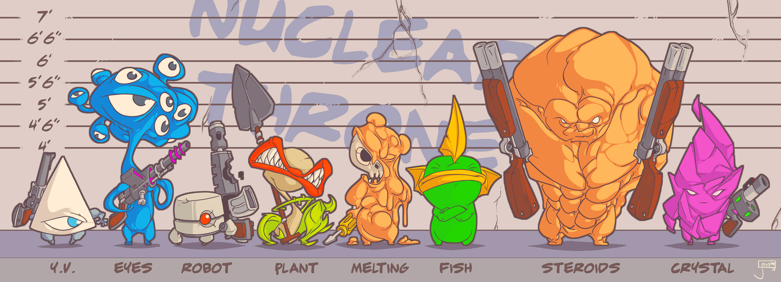 Nuclear Throne Fan art: Nuclear Suspects by jouste