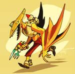 Ptero-Man w/ Cutlery Gun