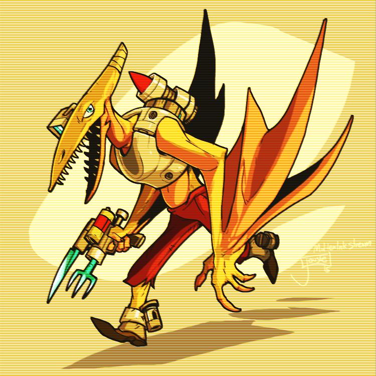 Ptero-Man w/ Cutlery Gun by jouste