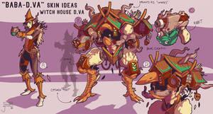 Baba-D.va or D.va Yaga Overwatch skin idea commish