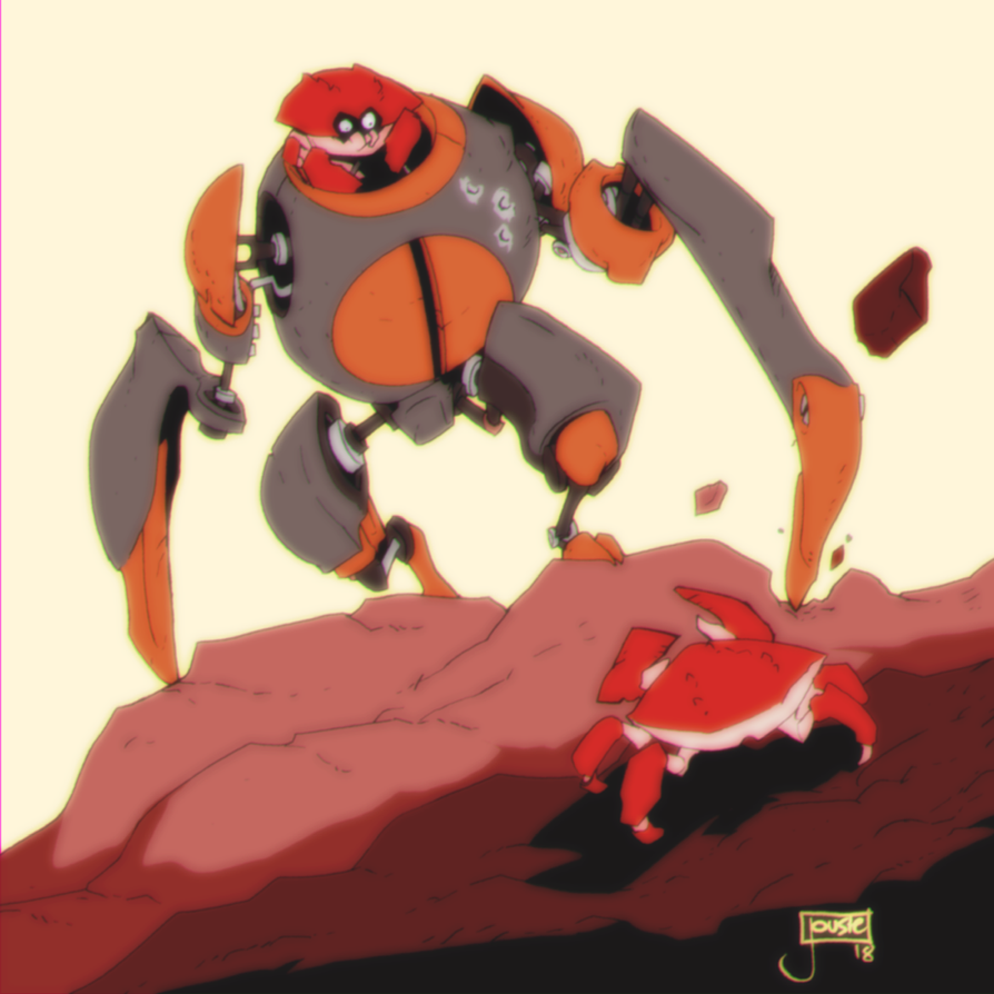 Crabulon versus regular crab by jouste