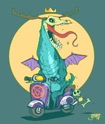 Demon Moped by jouste