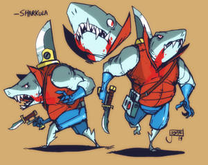 Sharkula the Space-Shark-Vampire
