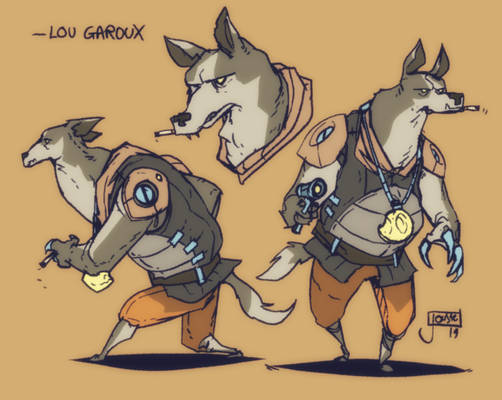 Lou Garoux the Space Werewolf
