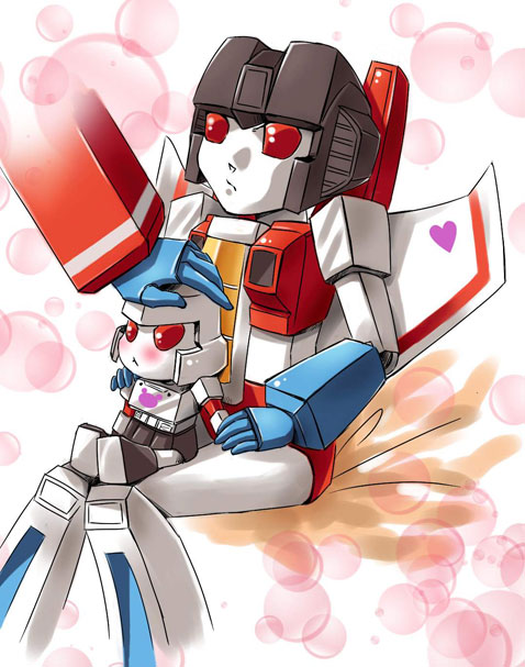 Starscream and little M by f19850928