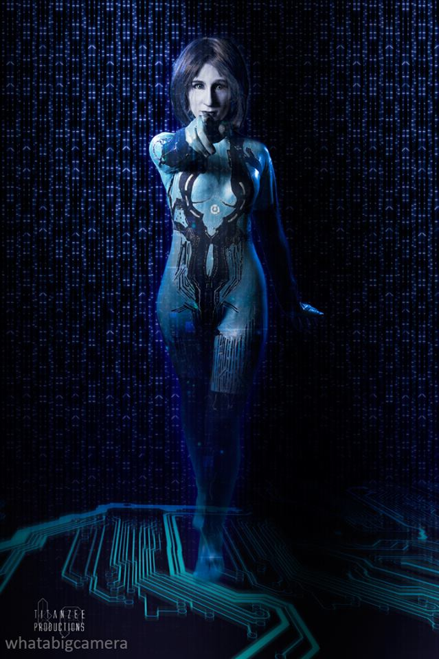 Cortana Cosplay by SpartanJenzii