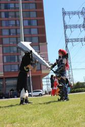 Gajeel eats Erza's sword!