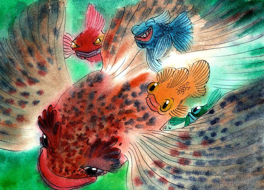 Watercolor 45 by KuzAnna