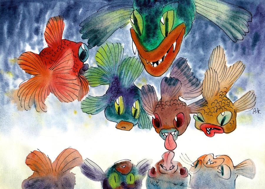 Watercolor 46 by KuzAnna