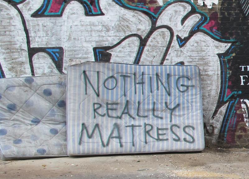 nothing matress still
