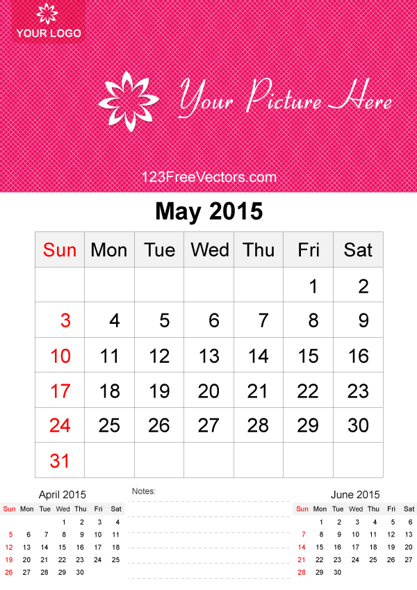 May 2015 Calendar Template Vector Free By 123freevectors On Deviantart