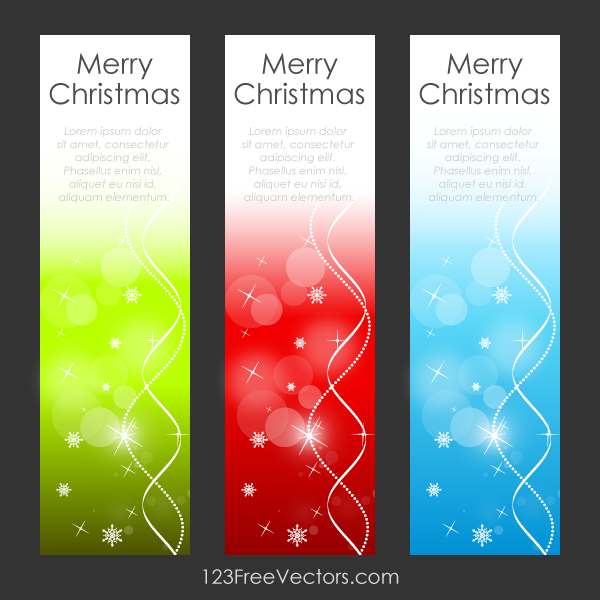 Merry Christmas Vertical Banners Vector Graphic by 123freevectors