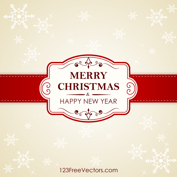 Vector christmas and new year greeting card design by 123freevectors m4hsunfo