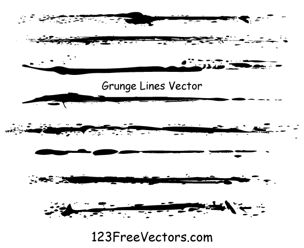 Drawing Vector Lines In Illustrator : Grunge lines vector illustrator by freevectors on