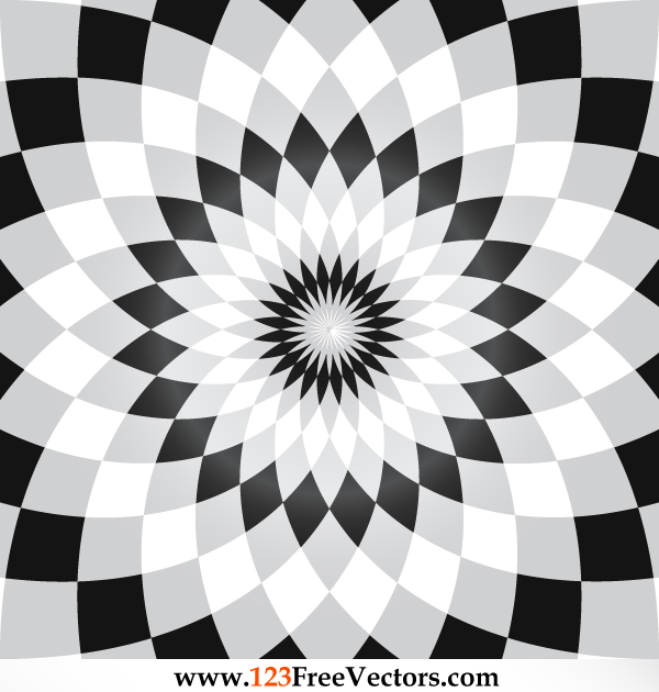 Flower Illusion Vector Free Download by 123freevectors